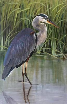 Painting - King Of The Marsh by Karen Langley