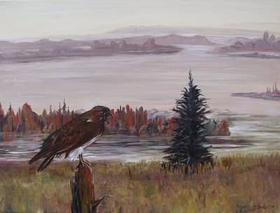 Art Print featuring the painting King Of The Mist by Diane Daigle