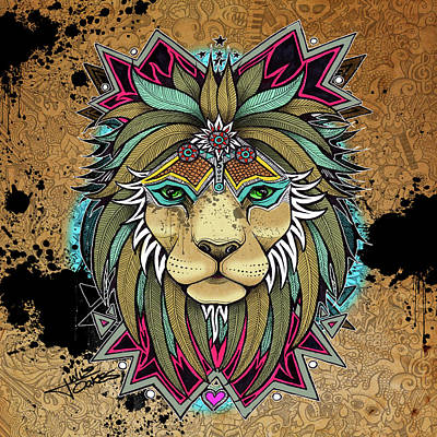 Mixed Media - King Of The Pride by Julie Oakes