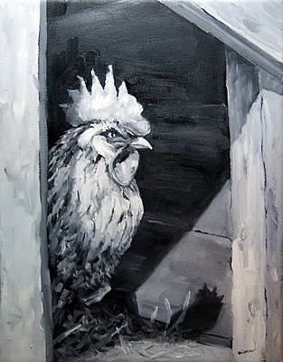 Painting - King Of The Roost by Diane Kraudelt