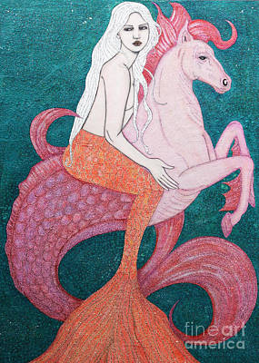Art Print featuring the mixed media King Of The Sea by Natalie Briney