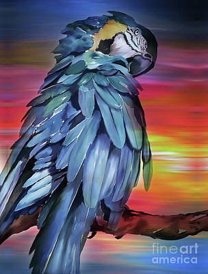 King Parrot Painting - King Parrot 01 by Gull G