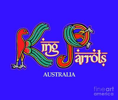 Digital Art - King Parrots Australia by Donna Huntriss
