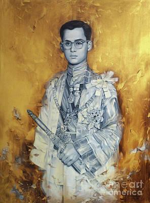 King Bhumibol Art Print by Chonkhet Phanwichien