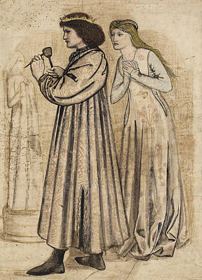 Drawing - King Rene's Honeymoon by Edward Burne-Jones