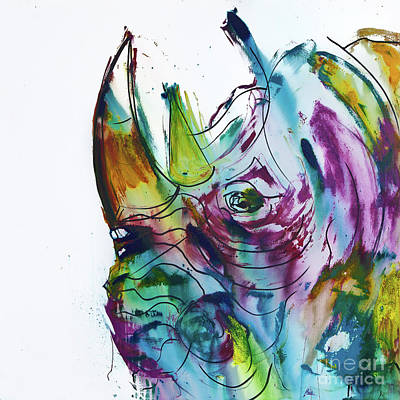 King Rhino Art Print