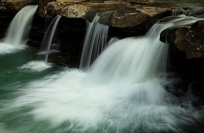 King River Falls In Spring Print by Iris Greenwell