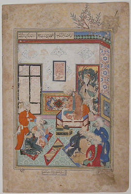 Syria Painting - King Salih Of Syria Entertaining Two Dervishes by Eastern Accent