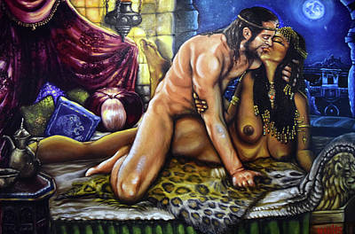 Painting - King Solomon And The Queen Of Sheba by Mani Price