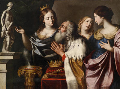 Painting - King Solomon Lead Into Idolatry By His Wives by Giovanni Venanzi di Pesaro