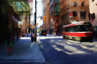Digital Art - King St East by Nicky Jameson