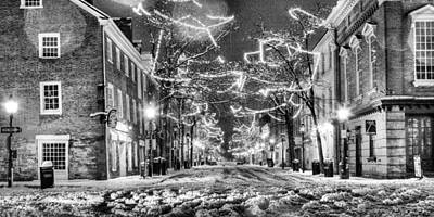 King Street In Black And White Art Print by JC Findley