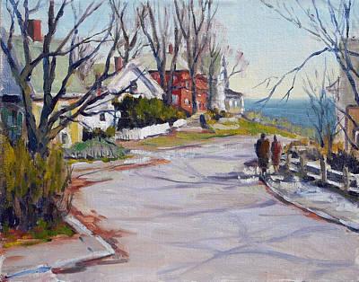 Rockport Massachusetts Painting - King Street Late Winter by Chris Coyne