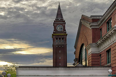 Photograph - King Street Station Clock Tower by David Gn