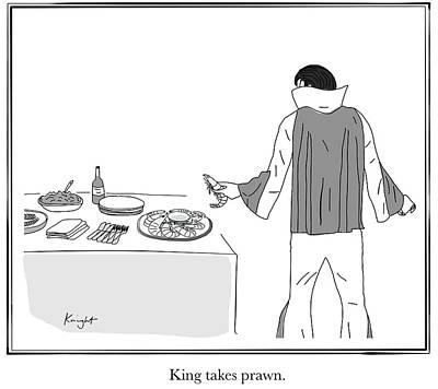 Drawing - King Takes Prawn by Douglas Knight