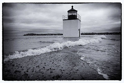 Photograph - King Tide - Derby Wharf Lighthouse by Jeff Folger
