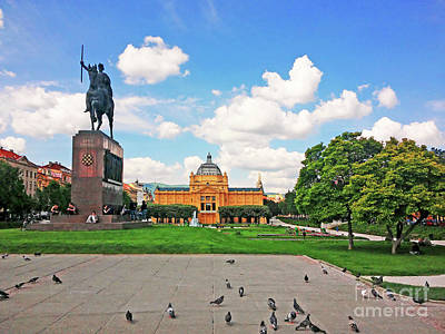 Photograph - King Tomislav Square - Zagreb, Croatia by Jasna Dragun