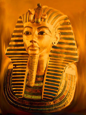 Pharoah Mixed Media - King Tut by Kathy Franklin