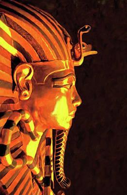 Digital Art - King Tut Mask by Dennis Cox