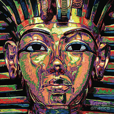 King Tutankhamun Death Mask Print by Maria Arango