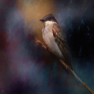 Painting - Kingbird On Patrol by Jai Johnson