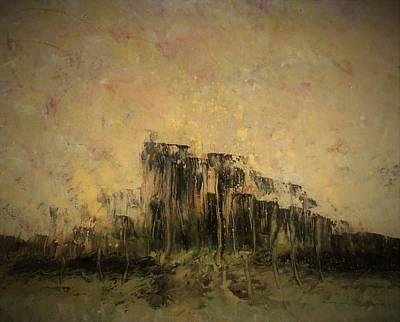Abstract Art Painting - Kingdom At Dusk by Karen Lillard