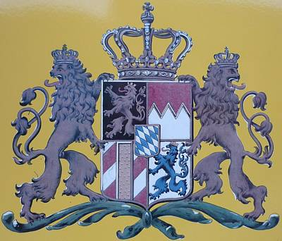 Blasoning Painting - Kingdom Of Bavaria by Alexander Snehotta von Kimratshofen