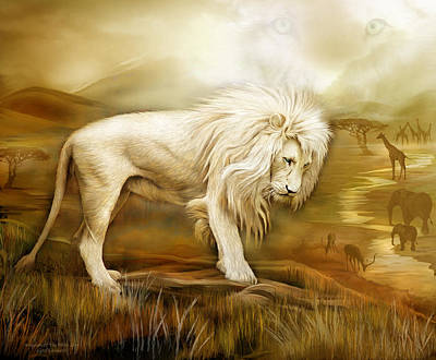 Mixed Media - Kingdom Of The White Lion by Carol Cavalaris