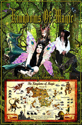Digital Art - Kingdoms Of Magic Fairy Poster by Robert Marquiss