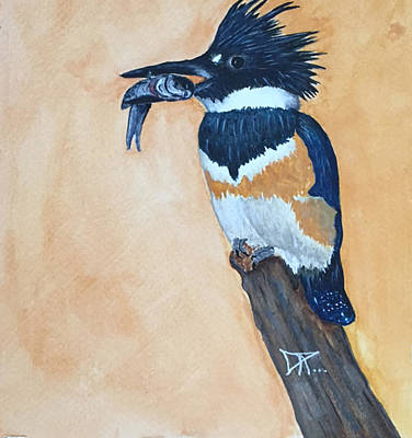 Painting - Kingfisher-2 by Donald Paczynski