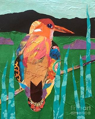 Painting - Kingfisher by Barbara Tibbets