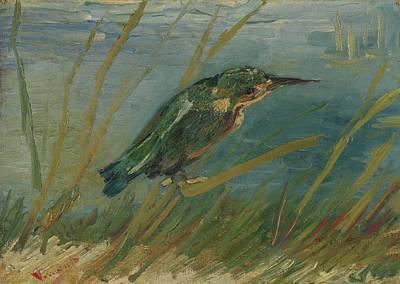 Waterside Painting - Kingfisher By The Waterside Paris by Vincent van Gogh