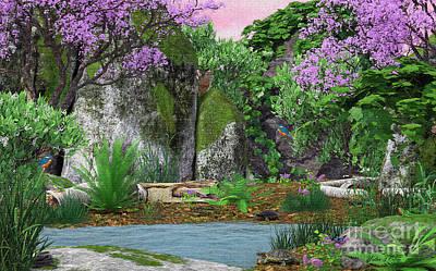 Digital Art - Kingfisher Creek by Walter Colvin