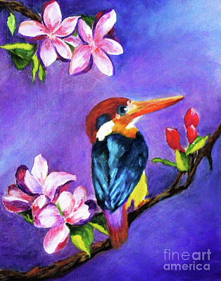 Painting - Kingfisher by Dian Paura-Chellis