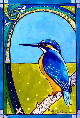 Painting - Kingfisher by Dora Hathazi Mendes