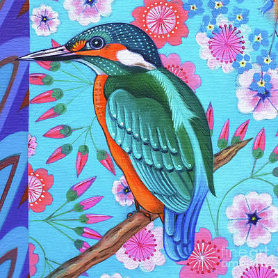 Kingfisher Painting -  Kingfisher by Jane Tattersfield