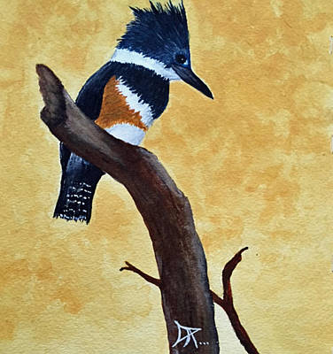 Painting - Kingfisher No. 1 by Donald Paczynski