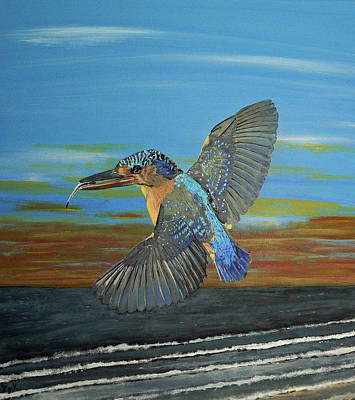 Painting - Kingfisher Of Eftalou by Eric Kempson