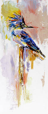 Kingfisher Oil Painting By Kim Guthrie Art Original by Kim Guthrie