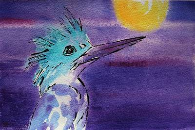 Painting - Kingfisher by Tara Moorman