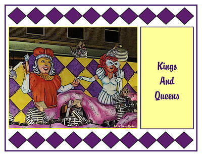 Striper Digital Art - Kings And Queens Float Poster by Marian Bell