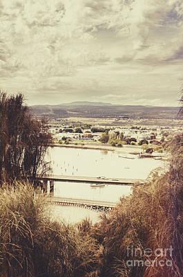 Kings Bridge In Launceston Tasmania Art Print