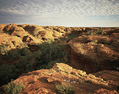 Clouds Over Canyon Photograph - Kings Canyon, Central Australia by David Kirkland