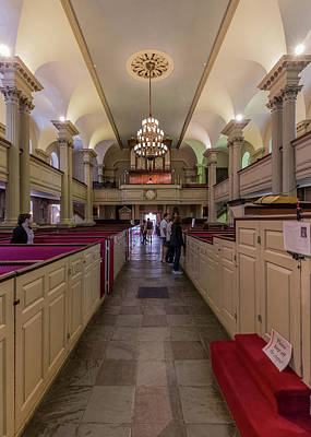Photograph - Kings Chapel On Bostons Freedom Trail by Brian MacLean