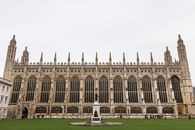 Photograph - Kings College Chapel Cambridge by David Warrington