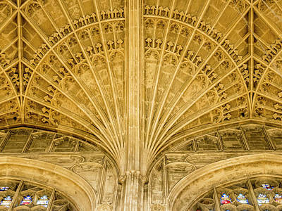 Photograph - Kings College Chapel Ceiling by Jean Noren