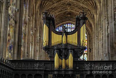 Photograph - Kings College Chapel Organ by Patricia Hofmeester