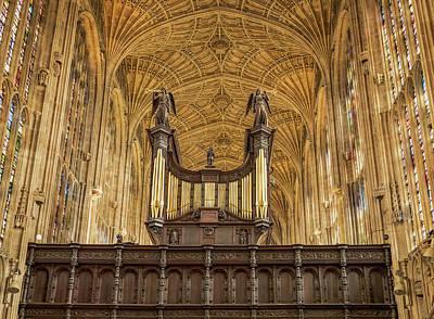 Photograph - Kings College In Cambridge by Jean Noren
