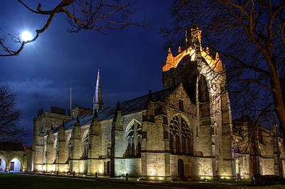 Photograph - King's College In The Moonlight by Veli Bariskan