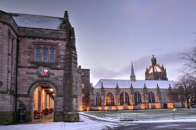 Photograph - King's College - University Of Aberdeen by Veli Bariskan
